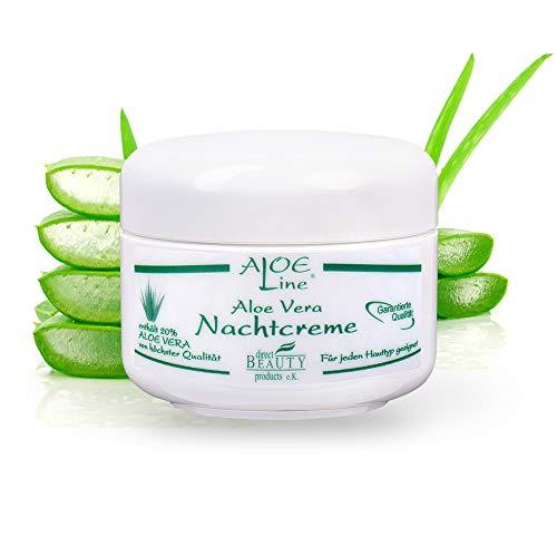 ALOE Line - Aloe Vera Nachtcreme - reichhaltig, aufbauend & feuchtigkeitsspendend - enthält 20%...