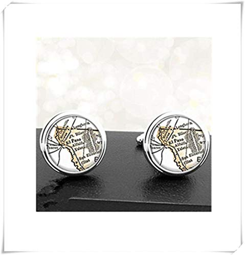 Heng Yuan Manschettenknöpfe, Design EL Paso, handgefertigt, kuppelförmig, Glasschmuck, Reine Handarbeit