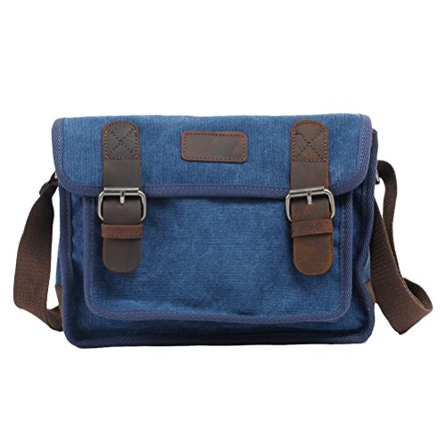 Zhhlaixing Borsa casuale Canvas Messenger Bags Leisure Ladies Shell Shoulder Bag Package for Women Blue
