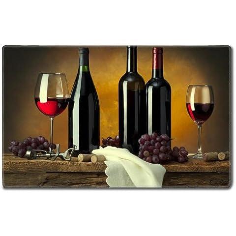 Bottiglie, colore: rosso vino personalizzato tappi Tovaglietta ordine su supporto già (24