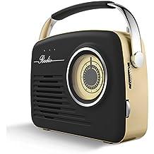 Akai a60014Retro AM/FM Radio–Negro