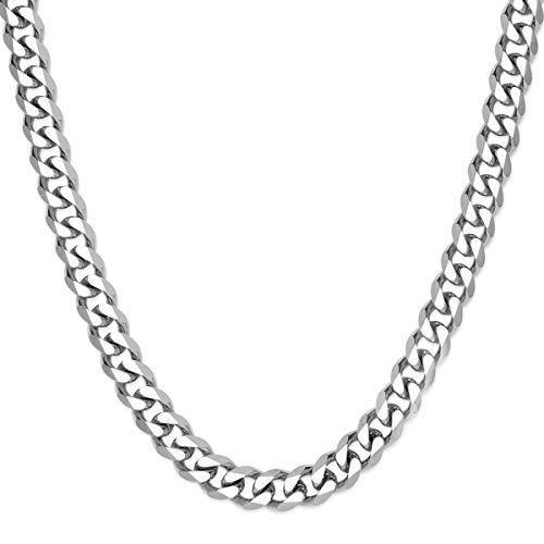 SoulCats® Halskette/Panzerkette aus Edelstahl für Männer in Silber, Größe: 8 mm, Kettenlänge ca. 70 cm
