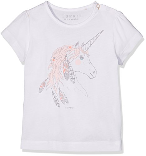 ESPRIT Baby-Mädchen T-Shirt RJ10031 Weiß