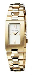 Betty Barclay Women's Quartz Watch with White Dial Analogue Display and Stainless Steel Gold Plated Bracelet BB007.90.111.010