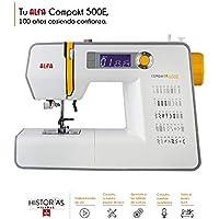 Alfa Compakt 500E Plus Máquina de Coser electrónica, compacta y portatil, Estructura metálica,