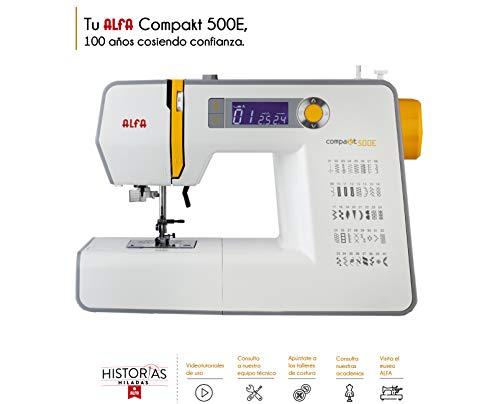 Alfa Compakt 500E Plus Máquina de Coser electrónica, compacta y port