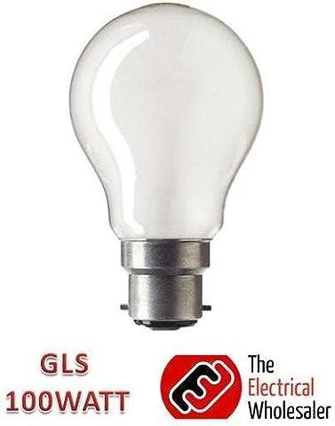 4 Pack 100W BC Pearl GLS Light Bulb Lamp 100 Watt 240v