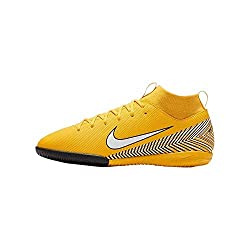 Nike Unisex-Kinder Superfly VI Academy Neymar Indoor Fußballschuhe, Gelb (gelb/schwarz gelb/schwarz), 38 EU