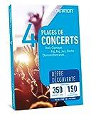 CULTUR'IN THE CITY Coffret Cadeau - 4 Places - 350 Concerts DECOUVERTE - 150 Salles Partenaires Partout en France - Pop, Rock, Hip-Hop, Jazz ou Musique Classique et chansons française !