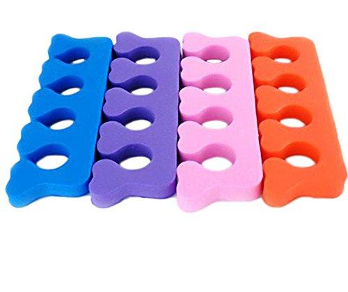 Kentop 4PCS Séparateur d'orteils pour Tongs Pédicure Hallux Valgus, Manucure et Pédicure