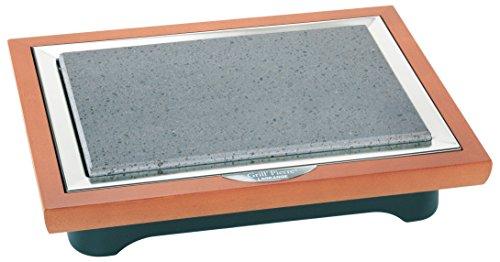 199001Kochstein Grill Stein® Deluxe Rahmen Holz
