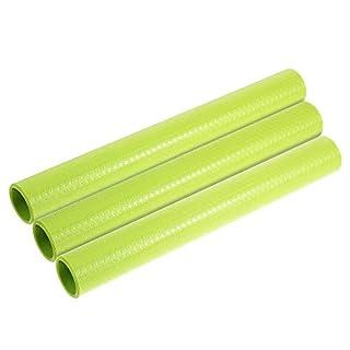 Amorus Schubladenmatte, 3 Pcs DIY Waschbare Wasserdichte Antirutschmatte, Antimehltau Antibakterielle Schubladeneinlage für Kühlschrank und Schublade (3 Pcs Grün)