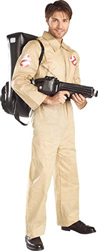 If there's something strange in your neighbourhood, then you need this Adults Official Ghostbusters Costume with Inflatable Proton Pack