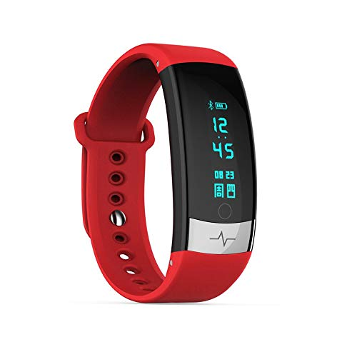 00125eaa98ab0 Yao QS03 Intelligent Sports ECG Bracelet Waterproof Heart Rate Color Screen  Red