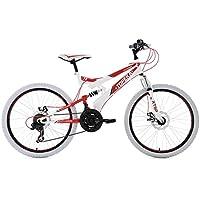 "KS Cycling 122K VTT Tout Suspendu Blanc 24"""