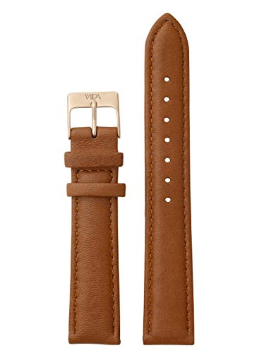 laVIIDA Uhrband LB-SVI2012R Ersatzband Uhrenarmband Leder 18 mm Braun-Rosé