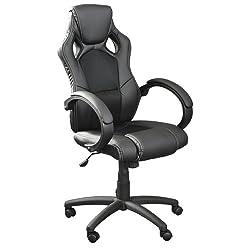 Premium Sportsitz Chefsessel Bürostuhl Racer schwarz 59801
