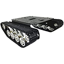 Homyl Juegos Accesorios DIY Robot Chasis Tanque Inteligente Coches TS100 - Negro 12v