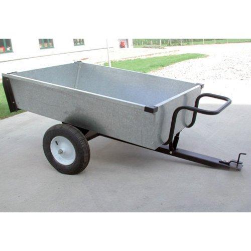 TURFMASTER-Remorque basculante en acier galvanisé-Capacité max 320 kg