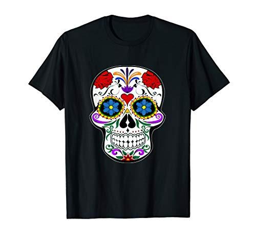 Tag der Toten Halloween Schädel Sugar Skull Totenkopf - Sugar Candy Totenkopf Kostüm