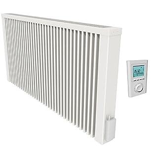 Thermotec Flächenspeicherheizung mit Funk-Thermostat, 2450W mit Speicherkern aus Schamottestein