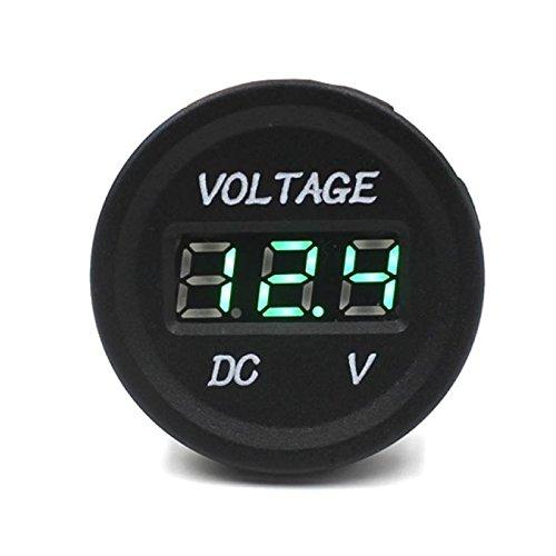Voltm/ètre Num/érique Moto Keenso 12V LED Voltm/ètre Num/érique /à Affichage de Jauge de Tension 6 Niveaux de Chrome Electrod/éposition Digital