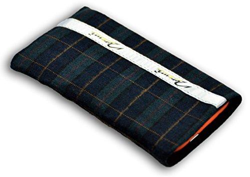 Norrun Handytasche / Handyhülle # Modell Fokka # ersetzt die Handy-Tasche von Hersteller / Modell Samsung SGH-L310 # maßgeschneidert # mit einseitig eingenähtem Strahlenschutz gegen Elektro-Smog # Mikrofasereinlage # Made in Germany