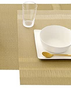 Chilewich Placemat Tuxedo Gold by Chilewich