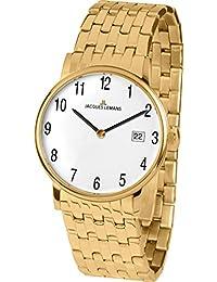 Jacques Lemans Vienna – Reloj de pulsera analógico unisex de cuarzo, revestimiento de acero inoxidable 1 – 1848h