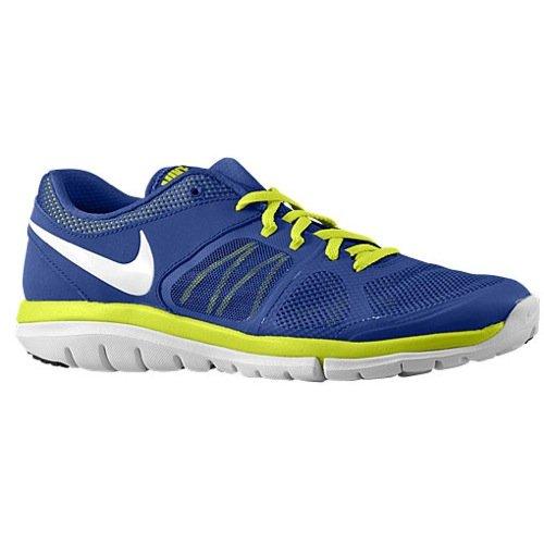 Nike Flex Run 2015, Herren Running Gr. 6 UK M, Deep Royal Blue/Venom Green/White