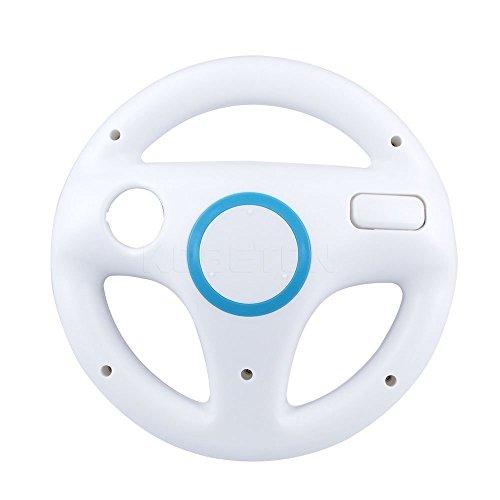 Volante Wii, STOGA Controller Wii generico per Nintendo Mario Kart Volante Controller gioco per Wii Telecomando Giochi - Bianco (2 pezzi)