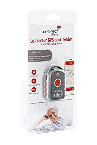 Weenect Silver - Localizador GPS para ancianos