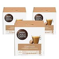 Nescafe Dolce Gusto Espresso Machiato, Cortado Coffee Capsules (48 Capsules,  48 Cups)