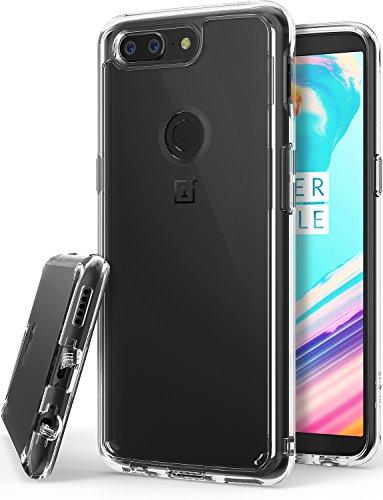 Ringke OnePlus 5T Hülle, OnePlus 5T Schutzhülle, Fusion Kristallklarer PC TPU Dämpfer Telefonschutz (Fall Geschützt/Schock Absorbtions-Technologie) für das OnePlus 5T Handyhülle Case Cover - Clear