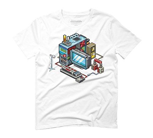8bit computer Men's Graphic T-Shirt - Design By Humans White