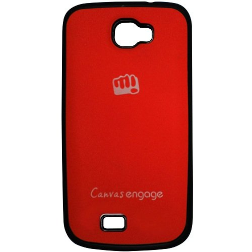 Casotec TPU Back Case Cover for Micromax Canvas Engage A091 - Red  available at amazon for Rs.175