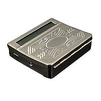 AIMERKUP Cigarette Rolling Box 70MM Metal Manual Semi-Automatic Cigarette Maker Diy Hand Roll Tobacco Roller