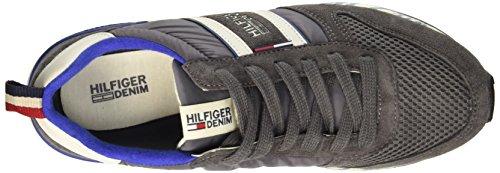 Tommy Hilfiger T2385RACK 1C, Scarpe Low-Top Uomo Grigio (Steel Grey/Light Grey 039)