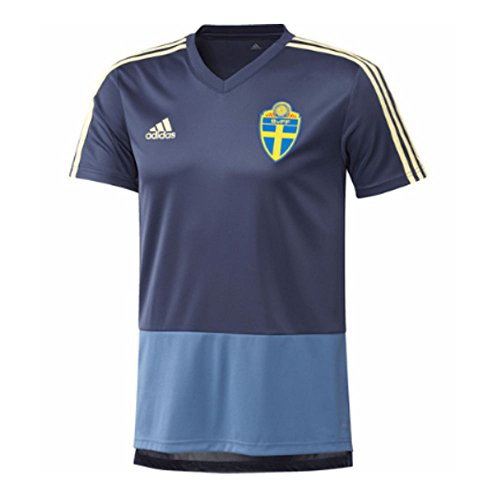 new concept e0b98 0b34c adidas Línea Federación Sueca Camiseta de Entrenamiento, Hombre, Azul  (IndnobAmasen)