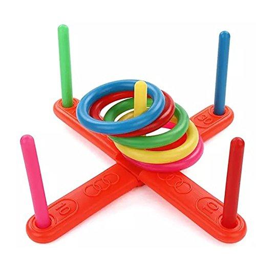 Baby 's Bildungs-Spielzeug, 1Set Funny Hoop Ring Kunststoff Spielzeug für Kinder Spielzeug Outdoor–uxely