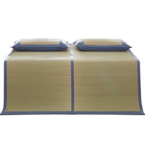 chlafmatte Sommer Schlafen Cool Matte Faltbar Kaltes Gewebe Gemütlich Lager Natürlich Absaugung Gesundheit Gras, Grün, 2 Größen Verfügbar (größe : 150X200CM) ()