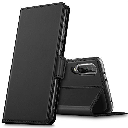 GEEMAI Diseño para Xiaomi Mi A3 Funda, Protectora PU Funda Multi-ángulo a Prueba de Golpes y Polvo a Prueba de Silicona con Soporte Plegable Apto para Xiaomi Mi A3 Smartphone. (Negro)