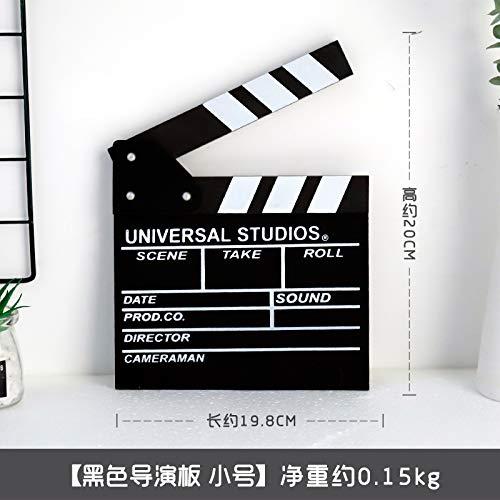 aus Holz Film Field Record Shooting Hilfs Hintergrund Requisiten Director Board Hause tägliche Dekoration ()