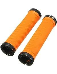 SODIAL(R) 1 Pair Bicycle Handle Grip MTB BMX Bike Handlebar Grips Orange