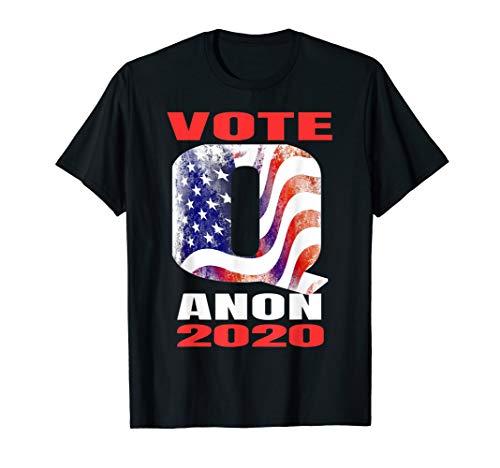 Distressed Q American Flag WWG1WGA Long Sleeve T-Shirt Deep State Patriotic Tee