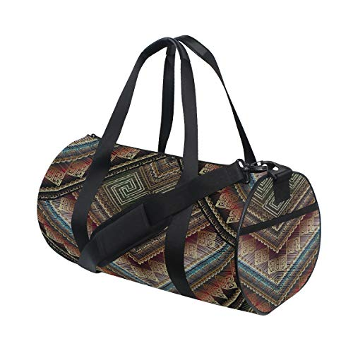 Plosds Abstrakte Manders Ornament Custom Lightweight große Yoga Gym Totes Handtasche Reise Canvas Duffel Taschen mit Schulter Crossbody Fitness Sport Gepäck für Mädchen Männer Frauen