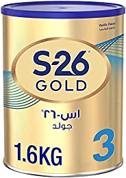 Wyeth S-26 Progress Gold Stage 3, 1-3 Years Premium Milk Powder Tin for Toddlers, 1.6kg - Promo Pack