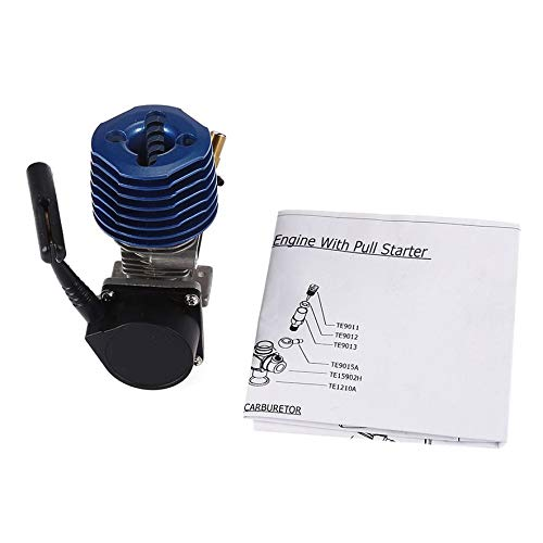 8Eninine 2.74Cc Sh18 Side Auspuff Metal Nitro Motor Hand Pull Starter für 1/10 RC Car Blue