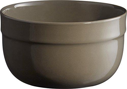 Emile Henry Eh956522 Petit Saladier Céramique Gris Silex 17,5 X 17,5 X 10,5 cm