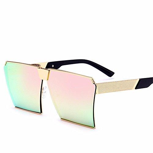 Sonnenbrille/Herren Sonnenbrille/Persönlichkeit Runde Gesicht große Rahmen/Sonne Augen, Gold Rahmen Pulver